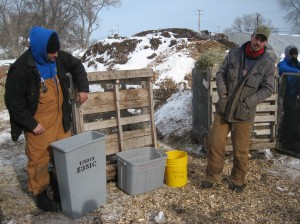 Winter composting at Growing Power's Milwaukee city farm